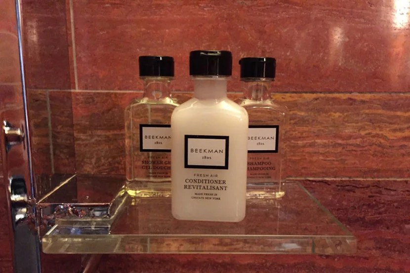 The Beekman bath products were great.