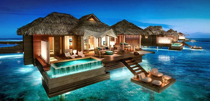 Overwater bungalows coming to jamaica and mexico for Cabanas en el agua bali