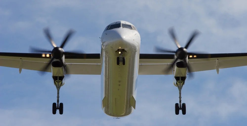 The Shortest Routes on a Dash 8 Turboprop
