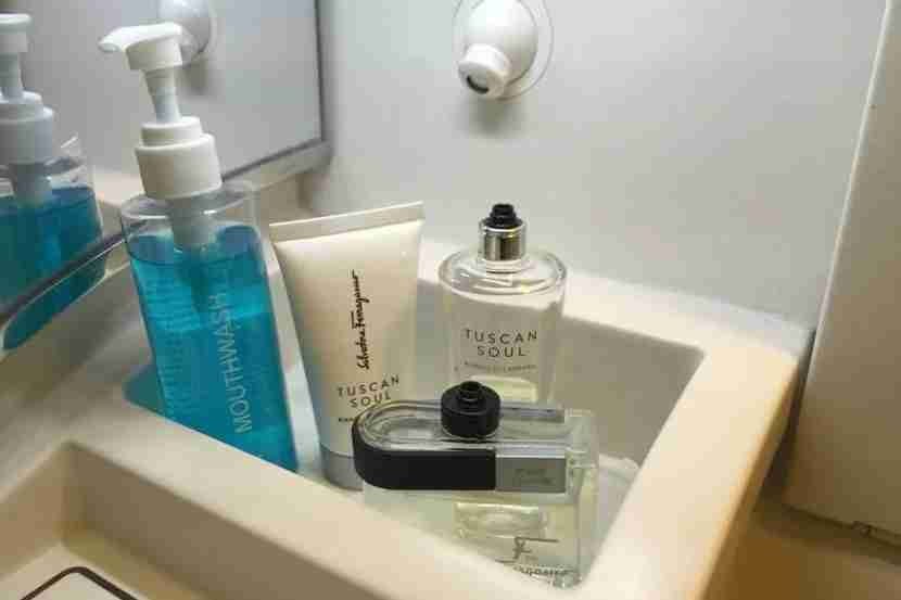 soaps in Suites bathroom