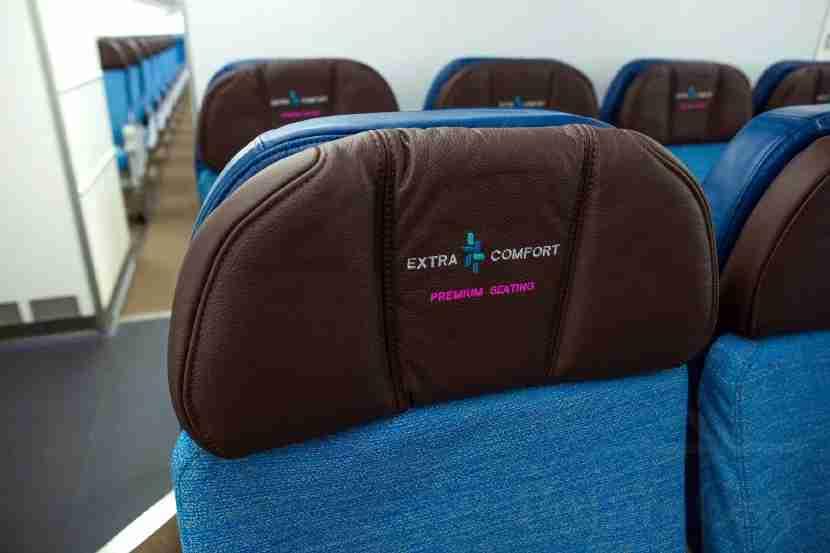 Economy seats have adjustable headrests.