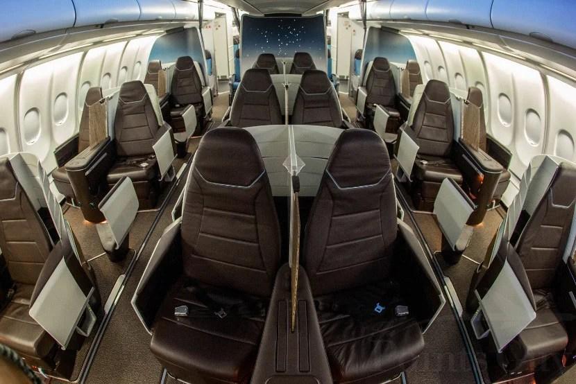Hawaiian's new 1-2-1 business class cabin.