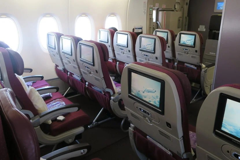 If you plan to work on a laptop, bulkhead seats, emergency exit row seats, or 74A/K will suit you well.