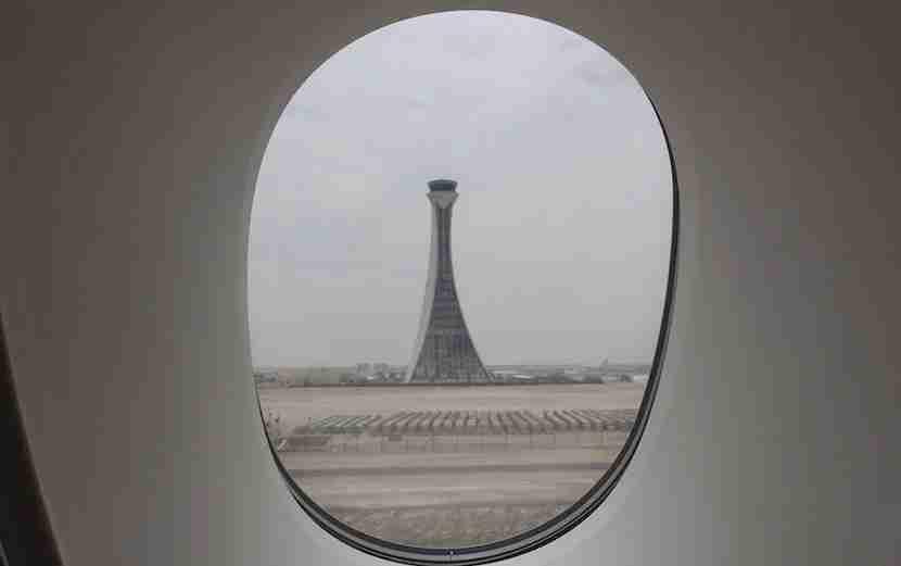Landing in Abu Dhabi.