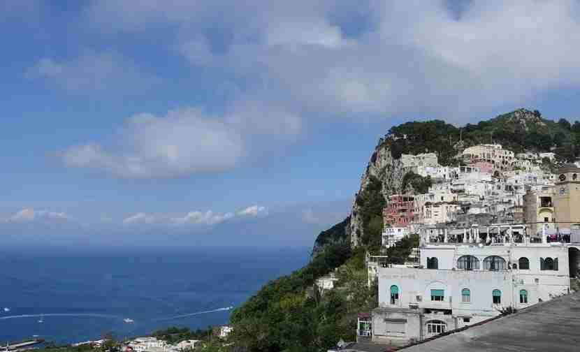 Capri is just a 45-minute boat ride away from Naples. Image courtesy of the author.