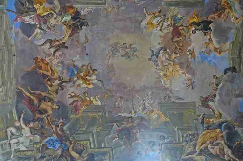 The ceiling of Sant