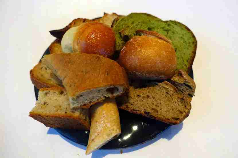 A delicious assortment of breads to start.