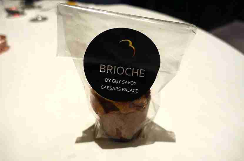 A to-go brioche from Guy Savoy.