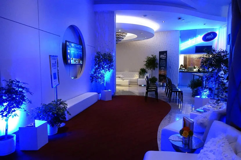 Looking the other way at the Chase Sapphire Preferred lounge at The Palazzo.