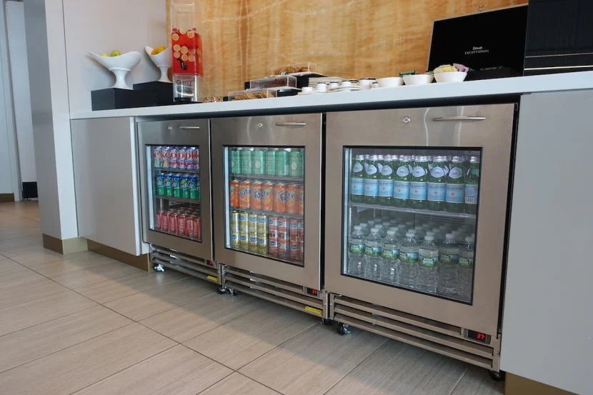 The refrigerated and hot beverage selections for non-alcoholic drinks.