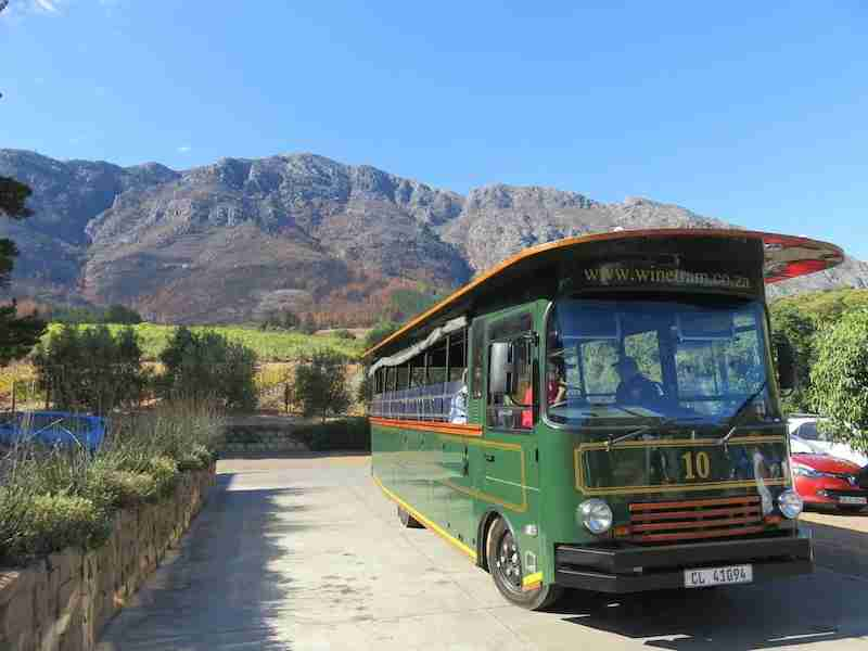 The Wine Tram is a divine way to see and sample the best of the Franschoek wine region.