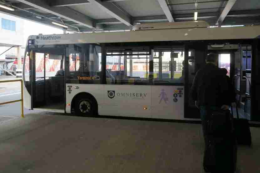 The bus from LHR Terminal 3 to Terminal 4 only took about seven minutes.