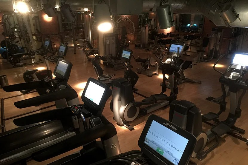 The gym is located in the hotel's basement.