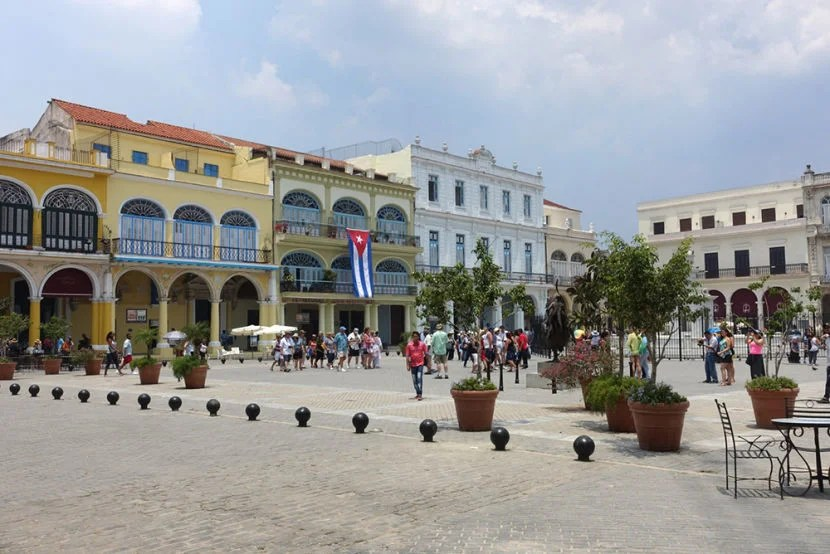 One of the first stops on our guided walking tour was Plaza Viejo, one of the oldest parts of the city.