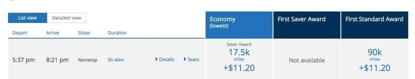 Discounted award tickets to Hawaii.