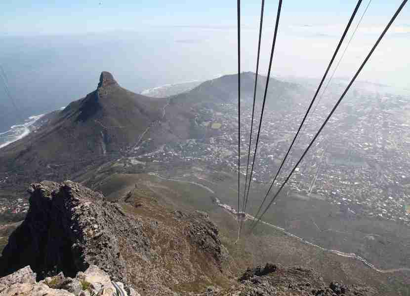 One of the most majestic views in the country is atop Table Mountain in Cape Town.