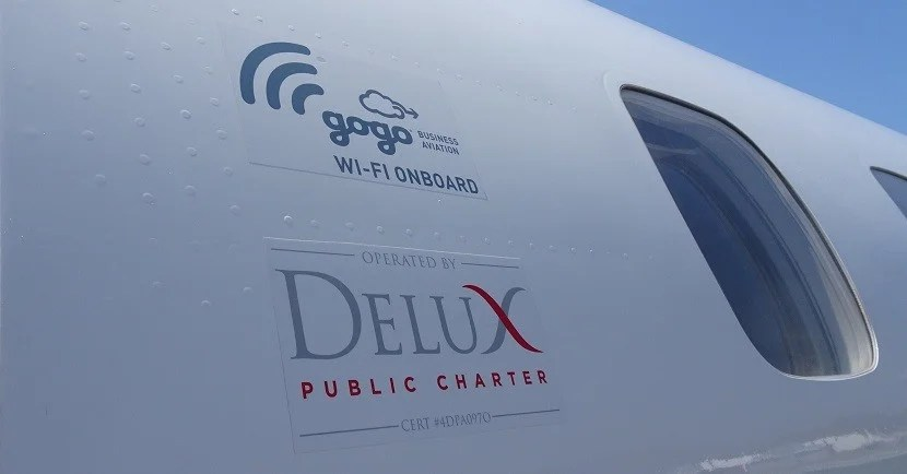 Wi-Fi on Board the Charter Jet.