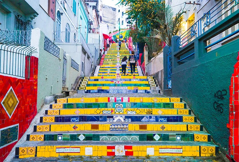 Lapa's Selaron Steps — gateway to Rio.