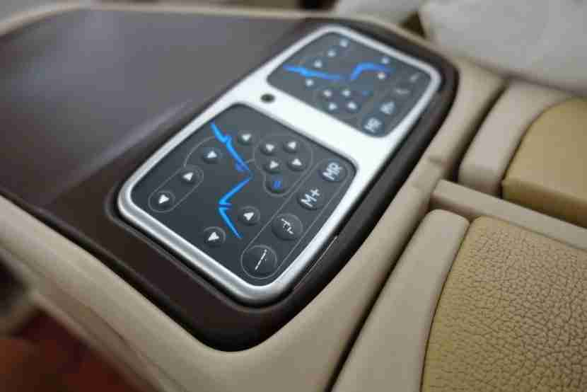 The seat controls.