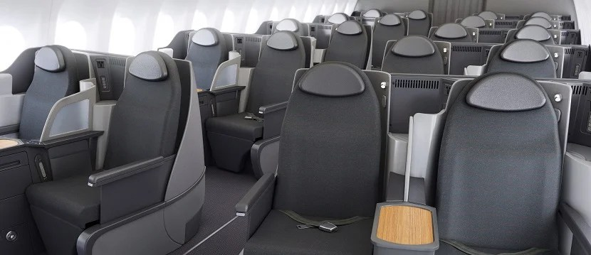 Business class on the A31T is