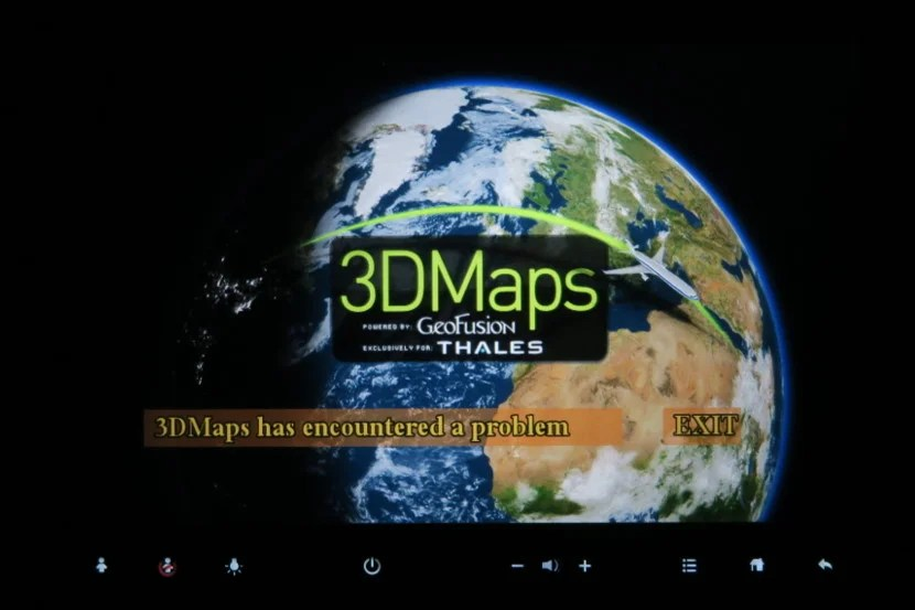 Unfortunately, although it worked for others in the economy cabin, the maps feature never worked for anyone in my row.