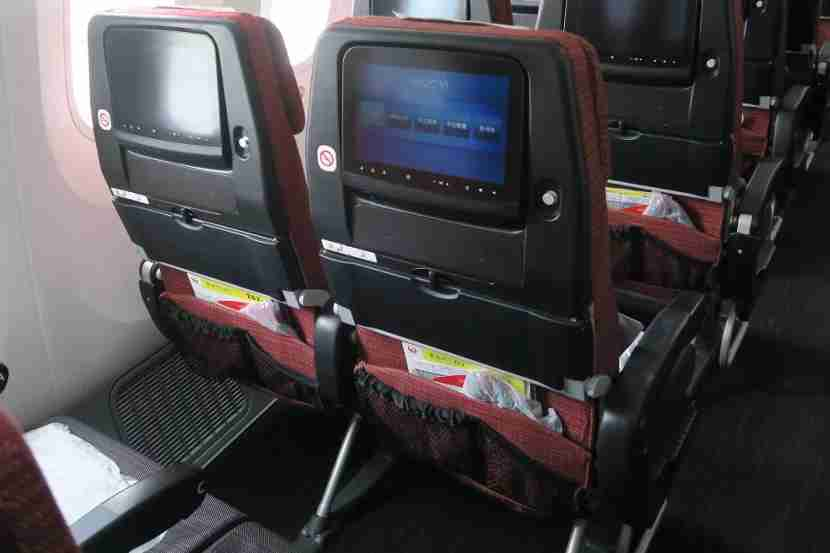 The seat backs had wasted room where the IFE remote would normally be but the seat back pockets were handy.