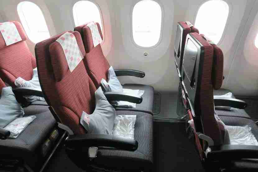 The seats were well padded and comfortable for both working and sleeping.