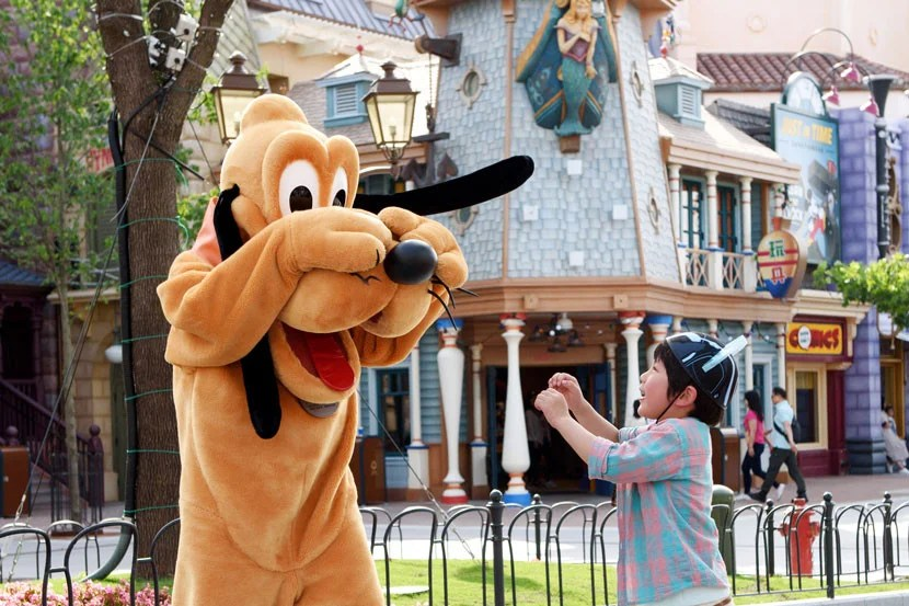 You can meet Pluto along Mickey Avenue, Shanghai Disneyland's answer to Main Street USA.