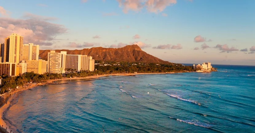 With two card sign up bonuses, you'll be just shy of having enough Flying Blue miles for four people to fly Delta to Waikiki Beach. Image courtesy of Shutterstock.