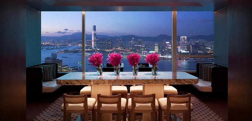 The sign-up bonus is more than enough for a free night at a Category 9 hotel like the Conrad Hong Kong. Photo courtesy of Hilton.