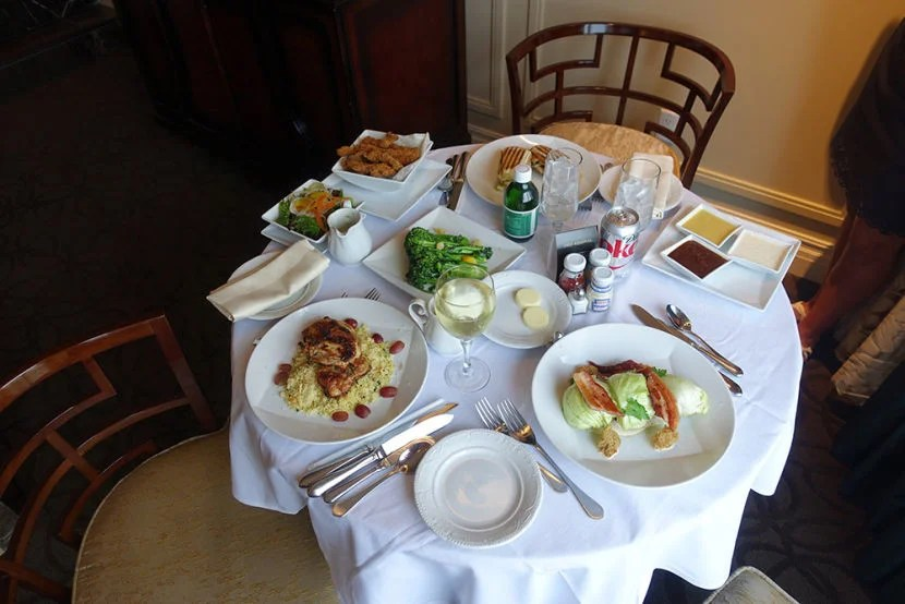 Our Room Service Lunch Was Delivered A Bit Late But It Was Delicious. Part 83