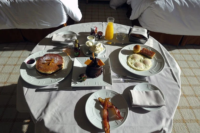 I Took Full Advantage Of The Free Room Service Breakfast Perk That Came  With My Booking Part 43