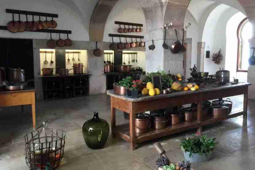 The kitchen at Palácio da Pena.