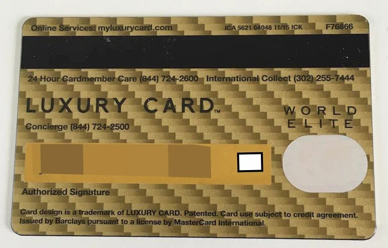 The back of the card has a peculiar design, and just does not feel like a luxury card besides the weight.