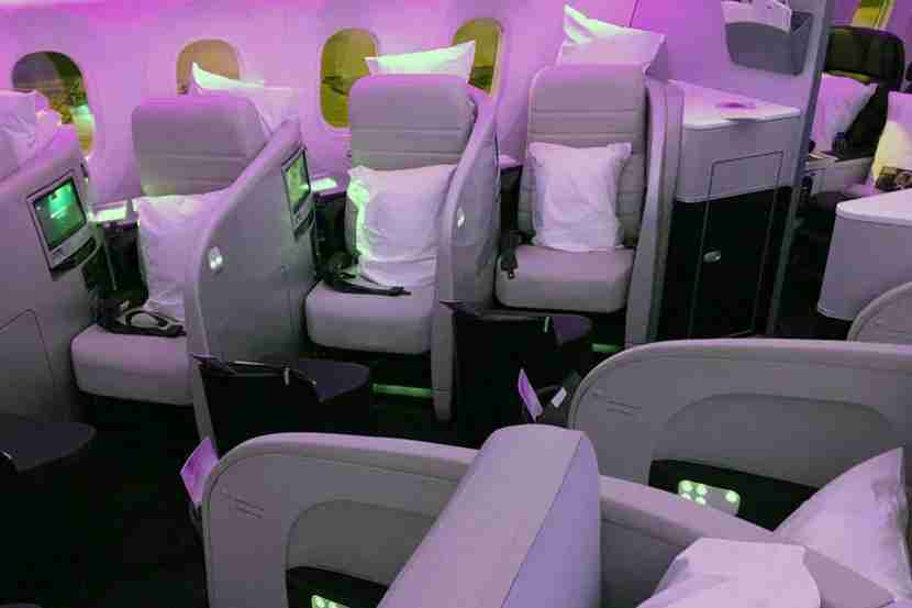 You can fly the Air New Zealand Dreamliner in business