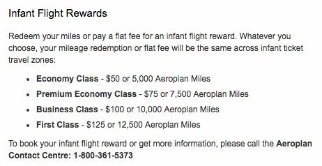 If you have little ones, you should look at using Aeroplan for international award redemptions.