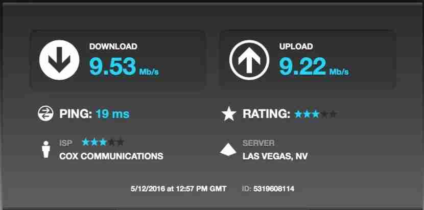 The Wi-Fi connection at the Wynn received three stars from a speed test.