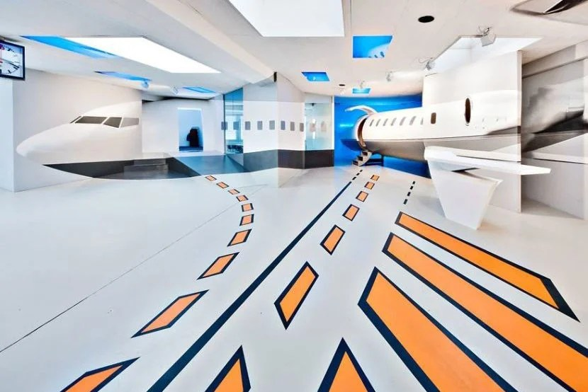 The Take Off aviation experience. Image courtesy of the V8 Hotel.