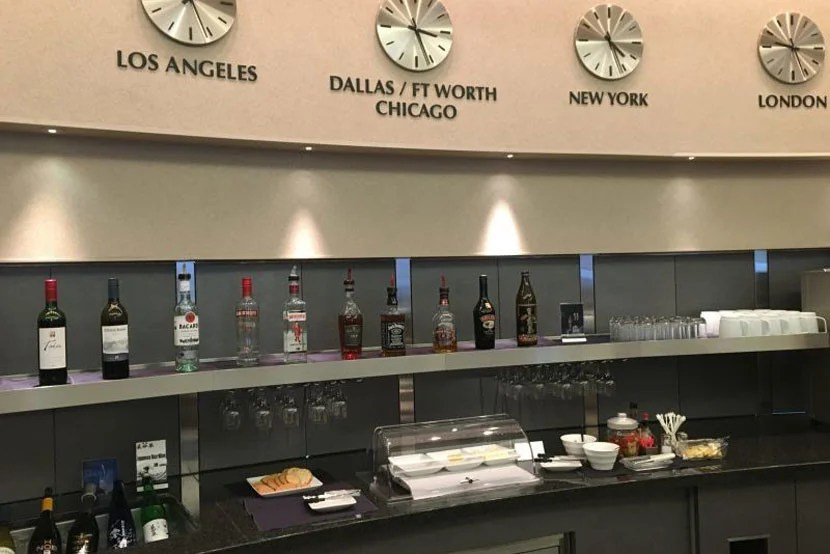 The bar at the Admirals Club.