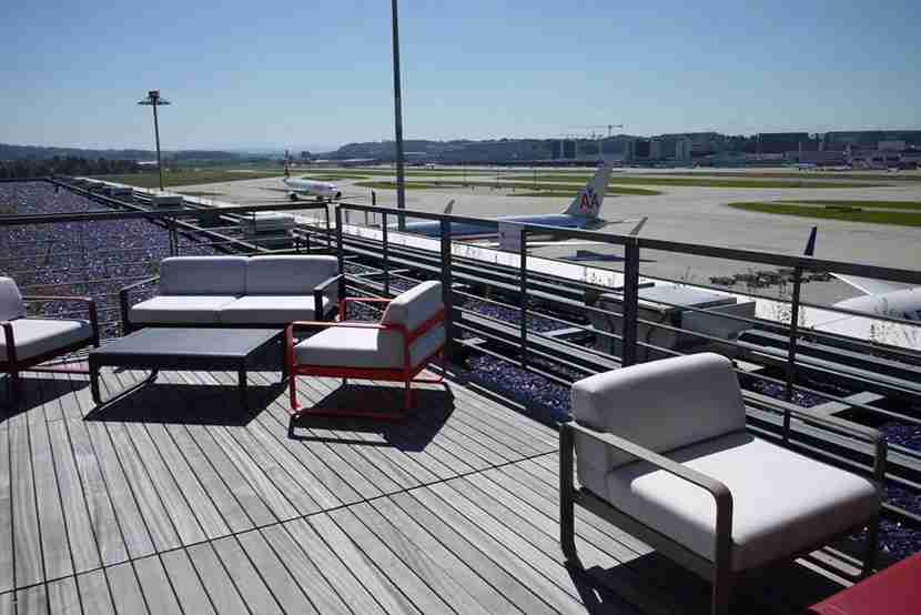 Swiss First Lounge Terrace