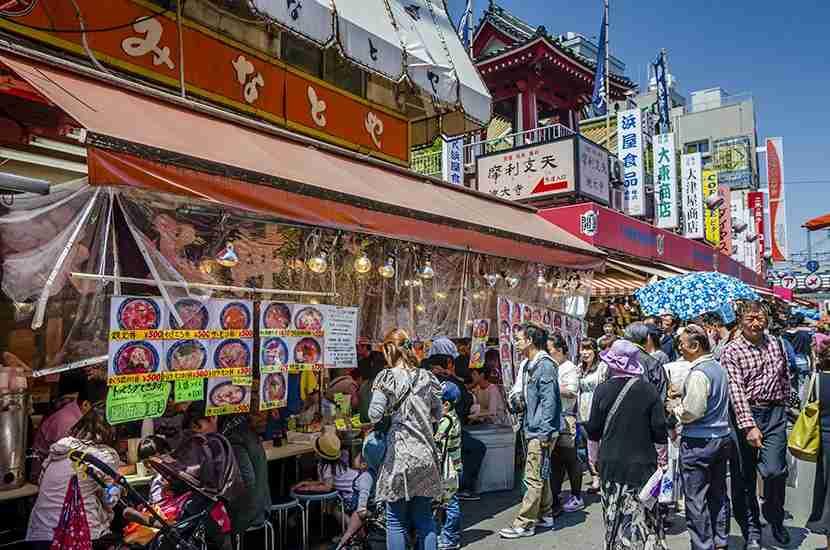 Ameyoko Market is always bustling. Image courtesy of Korkusung for Shutterstock.