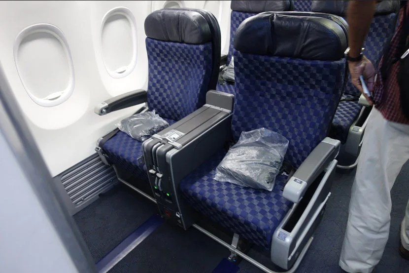 The bulkhead seats offers spacious leg room, especially when the seat doesn't recline.