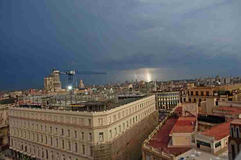 A summer lightening storm, captured at the top of the Bacardi Building. Image by Lori Zaino.