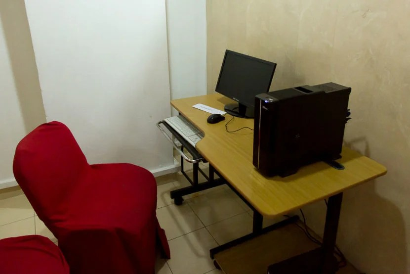 A room in the business center.