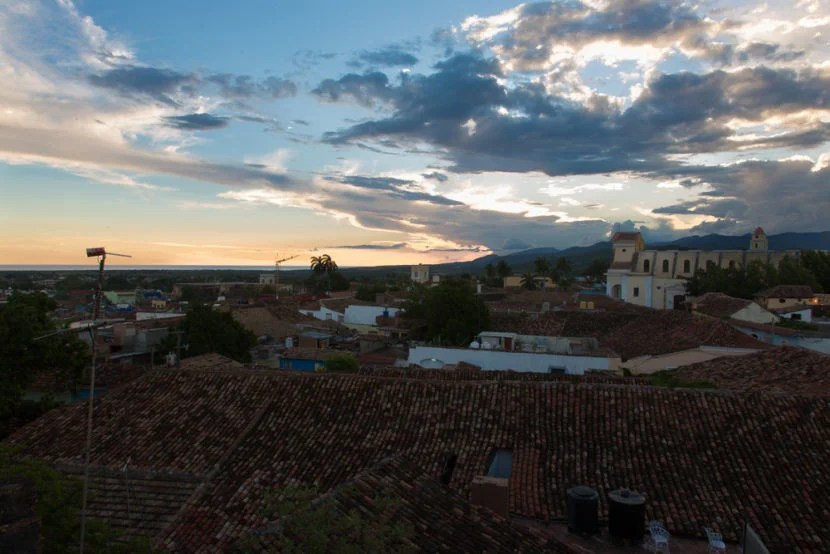Trindad at dusk from Fidel and Yesenia's Airbnb rental.