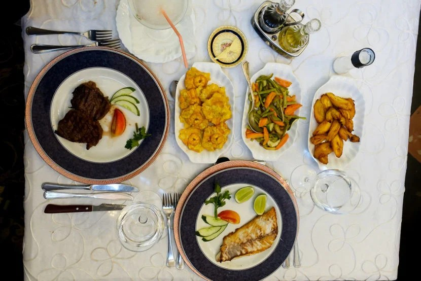 Cuban fare at San Cristobal. Try the sirloin steak (it's what President Obama ordered).