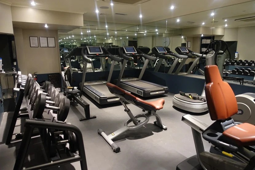 The basement gym.