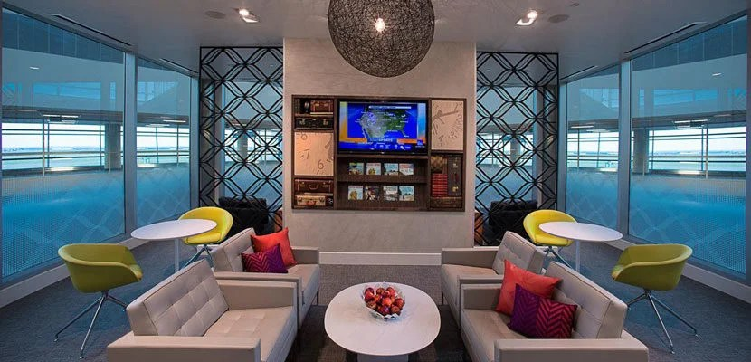 There's plenty of comfortable seating at the Centurion Lounge in Dallas. Image courtesy of American Express.