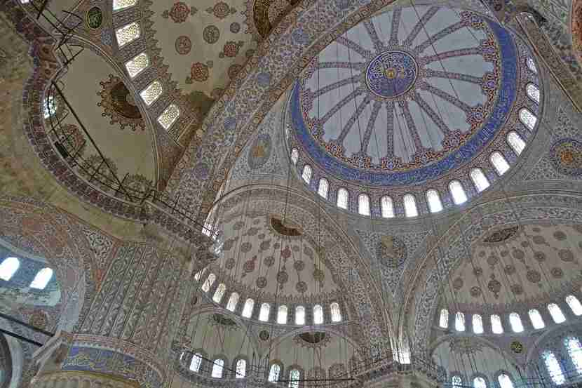 The inside of the mosque, simply stunning.
