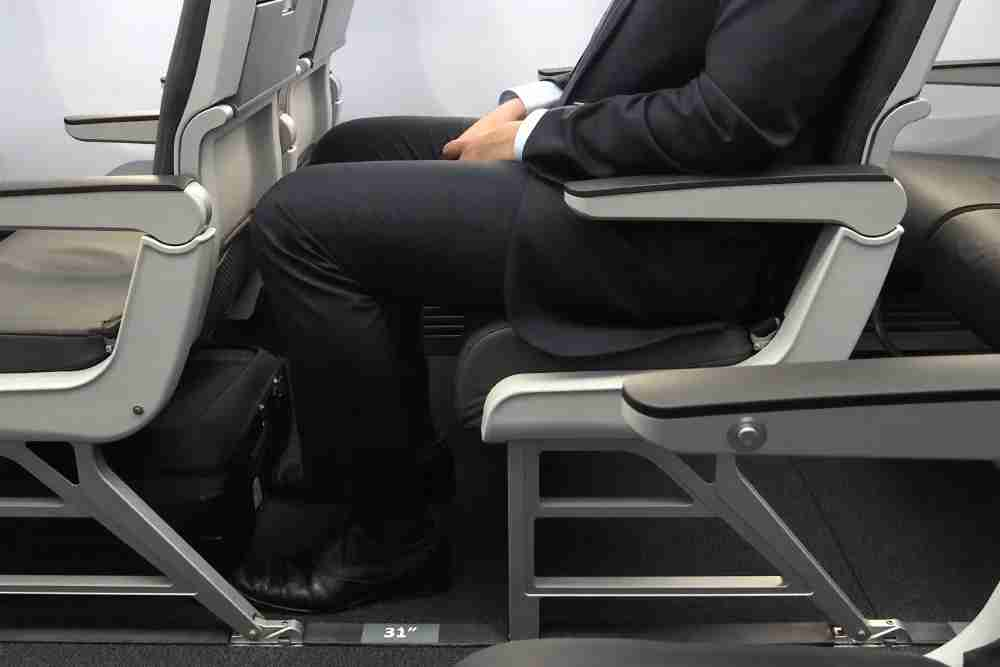 So much for my extra-legroom seat.